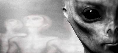Surrealism Digital Art - Close Encounter by Bob Orsillo