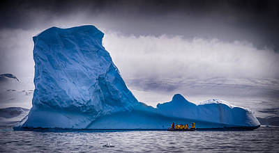 Zodiac Photograph - Close Encounter - Antarctica Iceberg Photograph by Duane Miller
