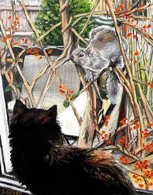 Close Encounter Art Print by Eileen Patten Oliver