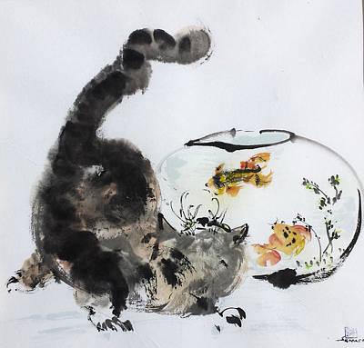 Close Encounter Art Print by Laurie Samara-Schlageter
