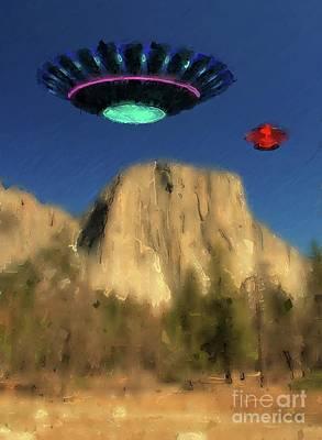 Science Fiction Digital Art - Close Encounter - UFO by Raphael Terra