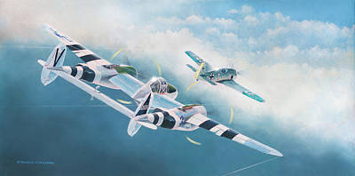 Painting - Close Encounter With A Focke-wulf by Douglas Castleman
