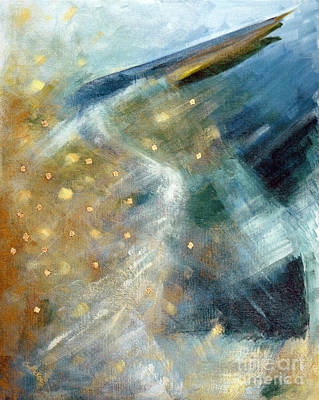 Painting - Close Encounter With A Great Blue by Suzanne McKee