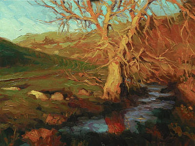 Countryside Painting - Close Of Day by Steve Henderson