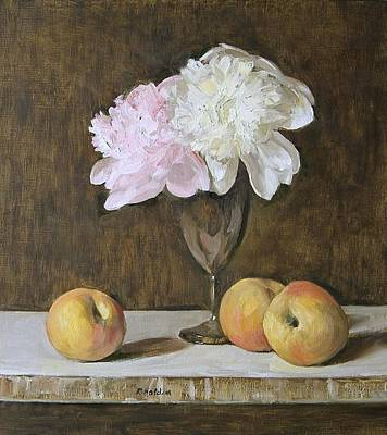 Painting - Peony Togetherness by Robert Holden