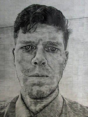 Drawing - Close Self Portrait by Denny Morreale