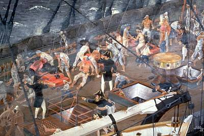 Uss Constitution Painting - Close The Enemy  by Jim Clary
