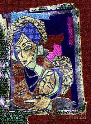 Child Jesus Mixed Media - Close To Her Heart by Mimo Krouzian