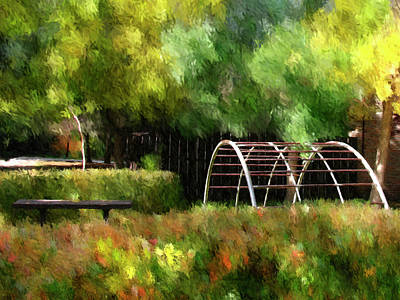 Close To Home - Impressionist Autumn Digital Painting Art Print by Rayanda Arts