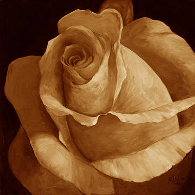 Close To Perfection Sepia Art Print by Billie Colson