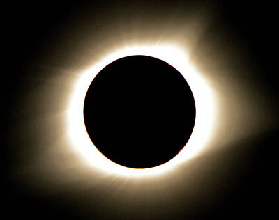 Solar Corona Photograph - Close Up 2017 Total Eclipse by Dan Sproul