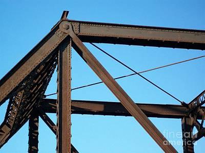 Quaker Digital Art - Close Up Bridge by Marsha Heiken