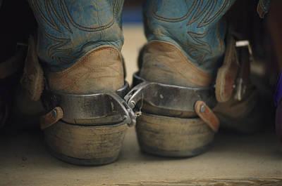 Close Up Detail Of Cowboy Boots Art Print