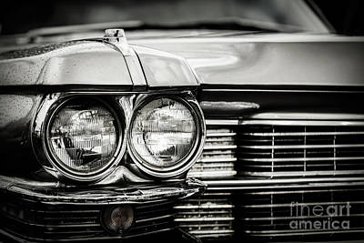Photograph - Close Up Detail Of Restored Classic American Car. by Michal Bednarek
