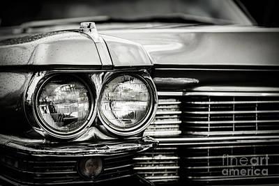 Close Up Detail Of Restored Classic American Car. Art Print