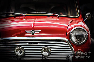 Photograph - Close Up Detail Of Restored Classic British Car - Mini by Michal Bednarek