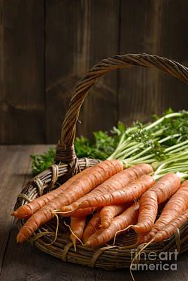 Close Up Dirty Carrots Art Print