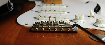 Photograph - Close Up Electric Guitar by Tom Conway