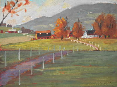 Berkshire Hills Painting - Close Up by Len Stomski