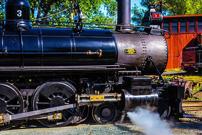 Close Up No 3 Steam Train Art Print by Garry Gay