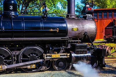 No 3 Photograph - Close Up No 3 Steam Train by Garry Gay