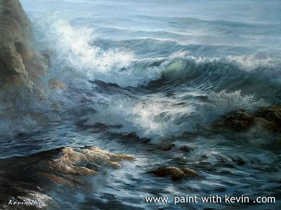 Kevin Hill Painting - Close-up Ocean Wave by Kevin Hill