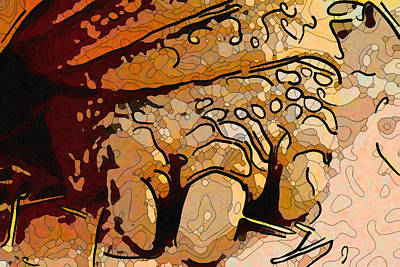 Painting - Close Up Of A Galapagos Giant Tortoise Foot 1 by Jeelan Clark