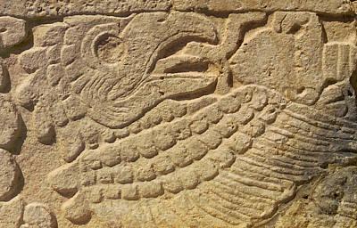 Close-up Of A Mayan Art Print
