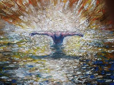 Painting - Close Up Of Baptism Of The Christ by Daniel Bonnell