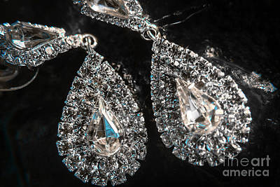 Earrings Photograph - Close-up Of Beautiful Brilliant Earrings  by Jorgo Photography - Wall Art Gallery