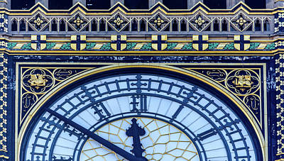 Photograph - Close Up Of Big Ben A London by Jacek Wojnarowski