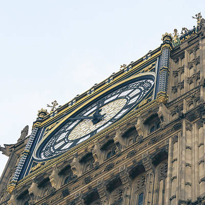 Photograph - Close Up Of Big Ben C London by Jacek Wojnarowski