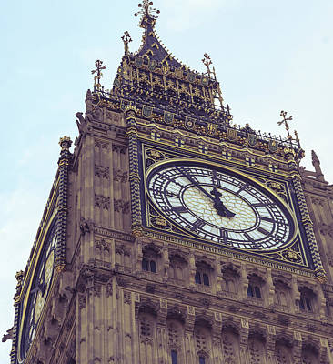 Photograph - Close Up Of Big Ben London by Jacek Wojnarowski