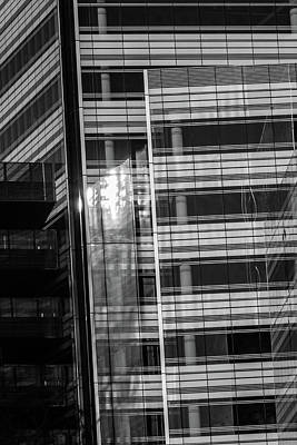 Photograph - Close Up Of Black And White Glass Building by Jacek Wojnarowski