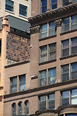 Photograph - Close Up Of Brownstone Buildings In Chicago by Colleen Cornelius