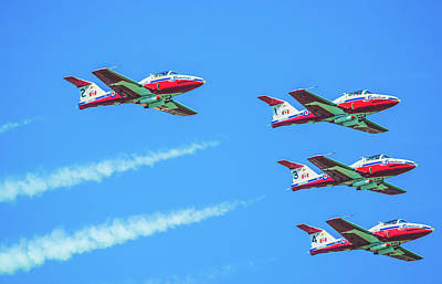 Photograph - Close-up Of Canadian Snowbirds Over Horseshoe Falls by Jeff at JSJ Photography