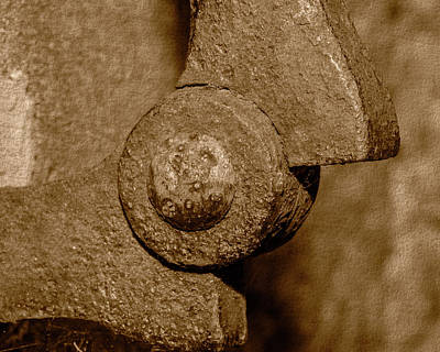 Photograph - Close Up Of Corroded Metal A Fine Art by Jacek Wojnarowski