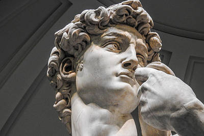 Close Up Of David By Michelangelo Art Print