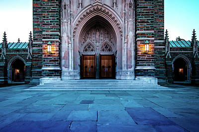 Photograph - Close Up Of Duke Chapel Doors by Anthony Doudt