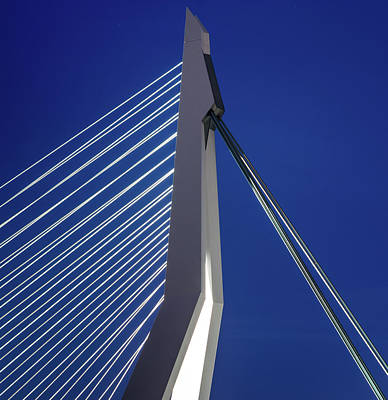 Photograph - Close Up Of Erasmus Bridge In Rotterdam, Netherlands by Alexandre Rotenberg