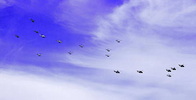 Photograph - Close Up Of Helicoper Flyover by Miroslava Jurcik