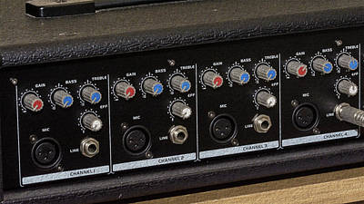 Photograph - Close Up Of Music Mixer Knobs Fine Art by Jacek Wojnarowski