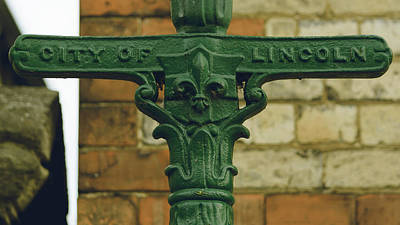 Photograph - Close Up Of Old Lincoln Lamp Post by Jacek Wojnarowski