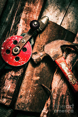 Close Up Of Old Tools Print by Jorgo Photography - Wall Art Gallery
