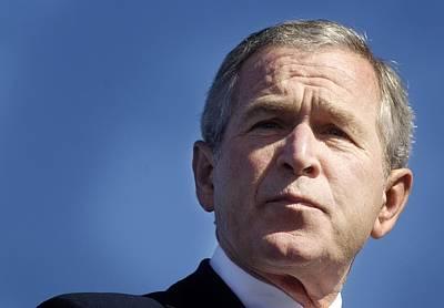 Close Up Of President George W. Bush Art Print