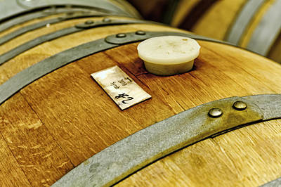 Photograph - Close Up Of Red Wine Barrel by Teri Virbickis