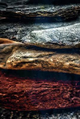 Close Up Of Rock Cairn At Buddha Beach - Sedona Art Print by Jennifer Rondinelli Reilly - Fine Art Photography