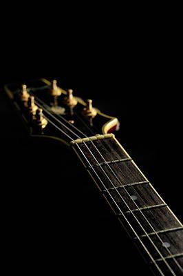 Close-up Of The Electric Guitar Art Print by Yagi Studio