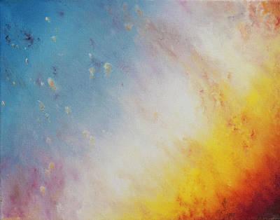 Close Up Of The Helix Nebula - Triptyc Panel 1 Art Print