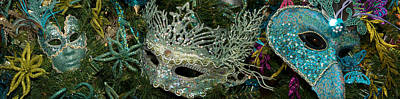 Venetian Mask Photograph - Close-up Of Venetian Masks by Panoramic Images